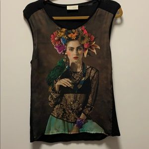 Zara W&B collection made in Portugal top sz M